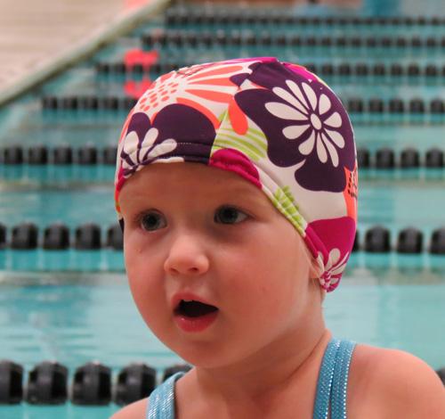 Aloha lycra swim cap