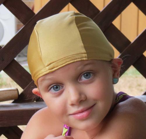 Gold lycra swim cap