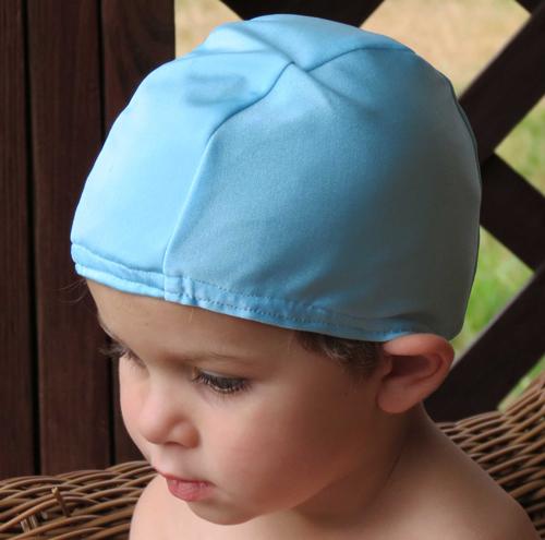 Light Blue lycra swim cap