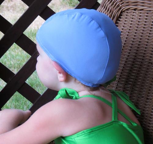 Periwinkle lycra swim cap