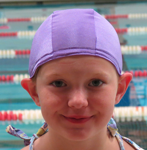 Lilac lycra swim cap