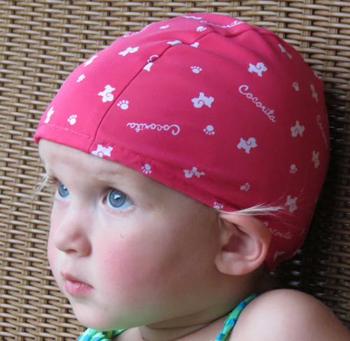 Pink Dog lycra swim cap