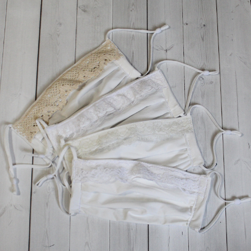 Adult Sport - White Lace - Face Covering