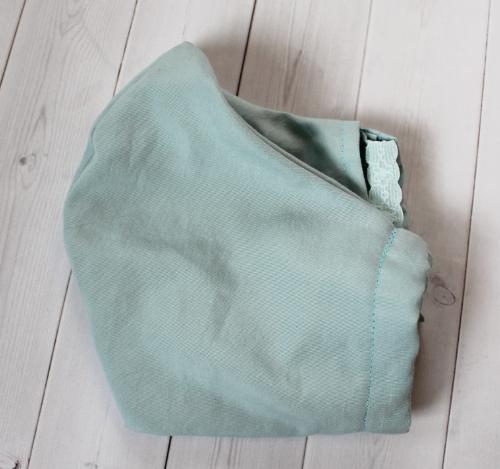 Adult - Aqua Blue - Face Covering