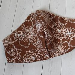 Adult - Brown Flowers - Face Covering