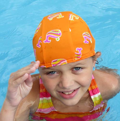 Whale of a Good Time lycra swim cap