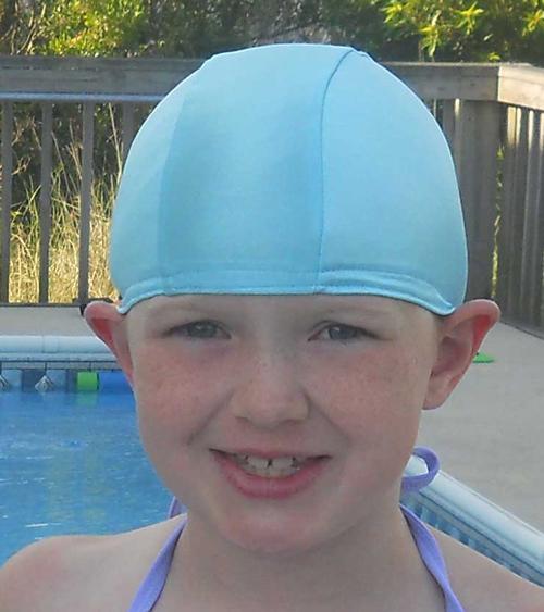 Aqua Blue lycra swim cap