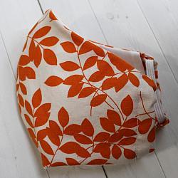 Adult - Orange Leaves - Face Covering