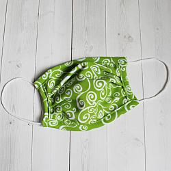 Child Sport - Green Swirly - Face Covering