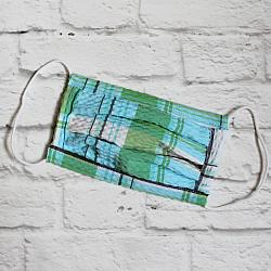 Child Sport - Blue & Green Plaid - Face Covering